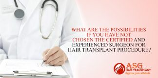 What Are The Possibilities If You Have Not Chosen The Certified And Experienced Surgeon For Hair Transplant Procedure?