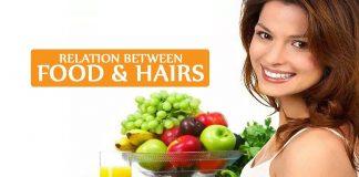Relation between food & hairs