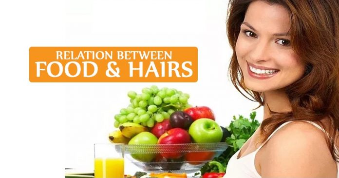 Relation between food & hairs