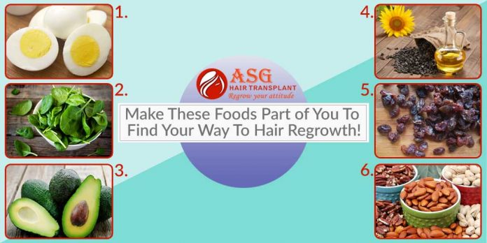 Make These Foods Part of You To Find Your Way To Hair Regrowth!