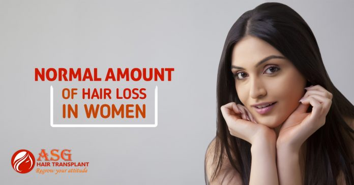 Normal Amount of Hair Loss in Women