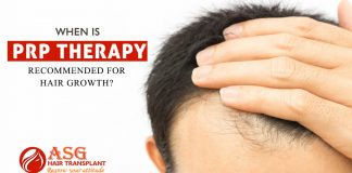 When is PRP therapy recommended for hair growth