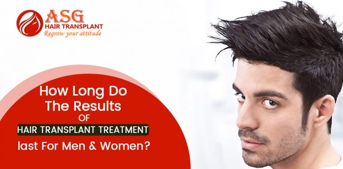 How long do the results of hair transplant treatment last for men & women