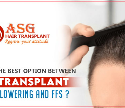 hair transplant, hairline lowering, and FFS